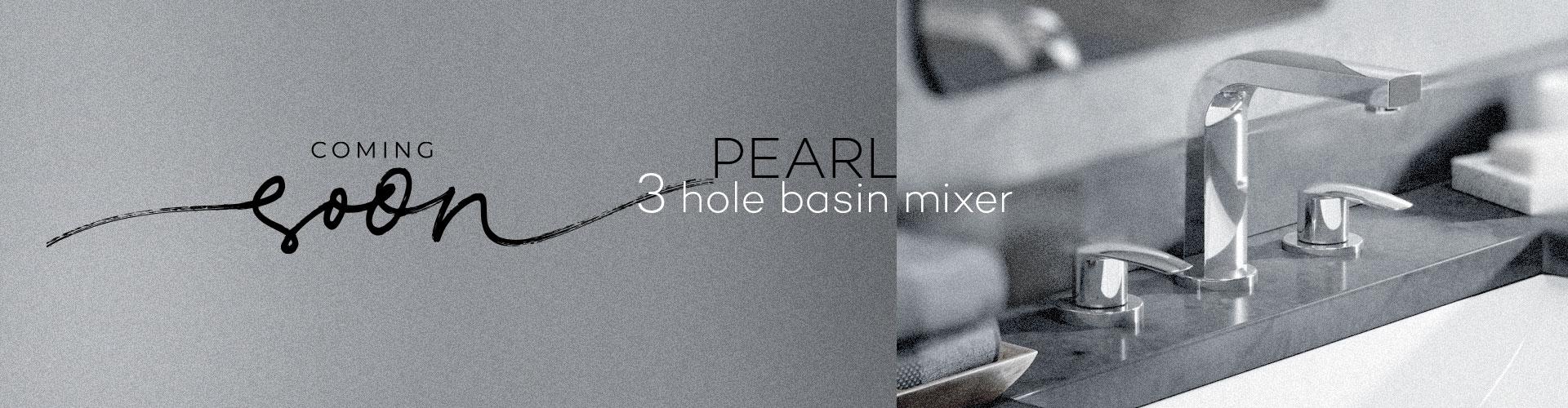 Pearl 3 Holes Basin Mixer