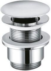 KLUDI basin waste valve with drain cap G 1 1/4