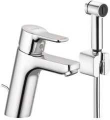 KLUDI PURE&EASY single lever basin mixer, with lateral hand shower, DN 15