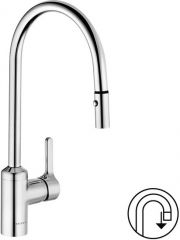 KLUDI BINGO STAR single lever sink mixer DN 15 with pull-out hand shower