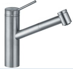 KLUDI TANGENTA single lever sink mixer DN 15 with pull-out hand shower