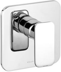 KLUDI E2 concealed shower mixer, trim set with functional unit