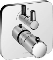 KLUDI E2 concealed THM shower mixer, trim set with functional unit