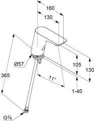 KLUDI BALANCE electronic controlled pillar tap DN 15