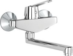 PEAK wall-mounted single lever sink mixer