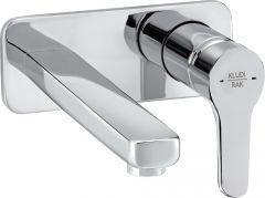 PEAK concealed 2-holes wall-mounted basin mixer trim set