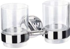 CALIBER brass double tumbler holder with two glasses