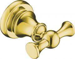Brass double robe hook