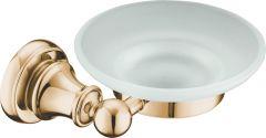 Brass soap dish (glass)