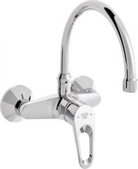 POLO wall-mounted sink mixer with swivel spout