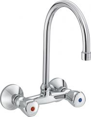PREMIER dual controlled sink mixer swivel spout