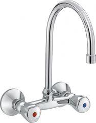 PREMIER dual controlled sink mixer swivel spout