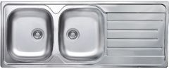 Inset Sink Double Bowl Single Drainer