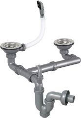 Double Bowl Sink Waste Trap With Siphon